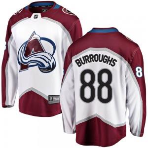 Fanatics Branded Kyle Burroughs Colorado Avalanche Men's Breakaway Away Jersey - White