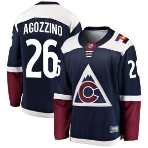 Fanatics Branded Andrew Agozzino Colorado Avalanche Youth Breakaway Alternate Jersey - Navy