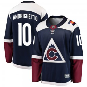 Fanatics Branded Sven Andrighetto Colorado Avalanche Youth Breakaway Alternate Jersey - Navy
