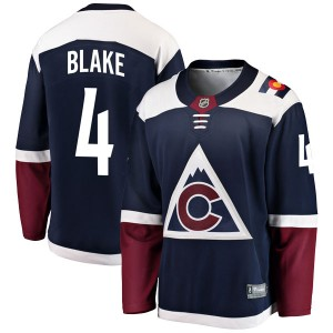 Fanatics Branded Rob Blake Colorado Avalanche Youth Breakaway Alternate Jersey - Navy