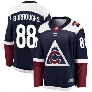 Fanatics Branded Kyle Burroughs Colorado Avalanche Youth Breakaway Alternate Jersey - Navy
