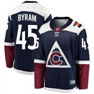 Fanatics Branded Bowen Byram Colorado Avalanche Youth ized Breakaway Alternate Jersey - Navy
