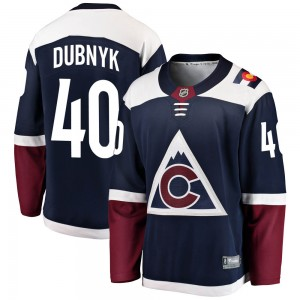 Fanatics Branded Devan Dubnyk Colorado Avalanche Youth Breakaway Alternate Jersey - Navy