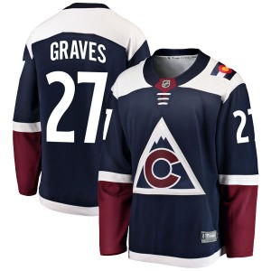 Fanatics Branded Ryan Graves Colorado Avalanche Youth Breakaway Alternate Jersey - Navy
