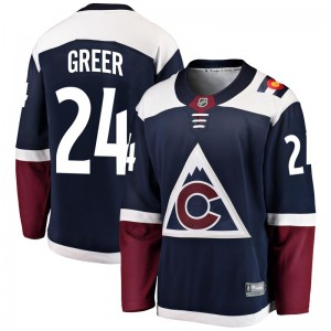 Fanatics Branded A.J. Greer Colorado Avalanche Youth Breakaway Alternate Jersey - Navy
