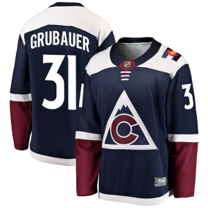 Fanatics Branded Philipp Grubauer Colorado Avalanche Youth Breakaway Alternate Jersey - Navy