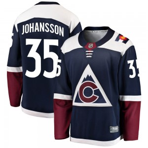 Fanatics Branded Jonas Johansson Colorado Avalanche Youth Breakaway Alternate Jersey - Navy