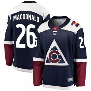 Fanatics Branded Jacob MacDonald Colorado Avalanche Youth Breakaway Alternate Jersey - Navy