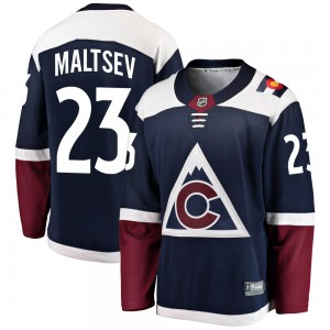 Fanatics Branded Mikhail Maltsev Colorado Avalanche Youth Breakaway Alternate Jersey - Navy
