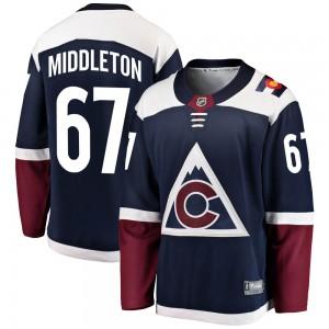 Fanatics Branded Keaton Middleton Colorado Avalanche Youth Breakaway Alternate Jersey - Navy