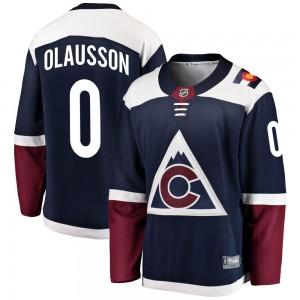 Fanatics Branded Oskar Olausson Colorado Avalanche Youth Breakaway Alternate Jersey - Navy