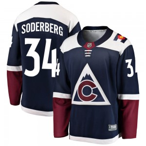 Fanatics Branded Carl Soderberg Colorado Avalanche Youth Breakaway Alternate Jersey - Navy