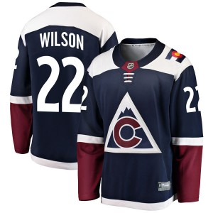 Fanatics Branded Colin Wilson Colorado Avalanche Youth Breakaway Alternate Jersey - Navy