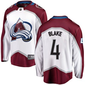 Fanatics Branded Rob Blake Colorado Avalanche Youth Breakaway Away Jersey - White