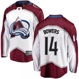 Fanatics Branded Shane Bowers Colorado Avalanche Youth ized Breakaway Away Jersey - White