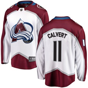 Fanatics Branded Matt Calvert Colorado Avalanche Youth Breakaway Away Jersey - White