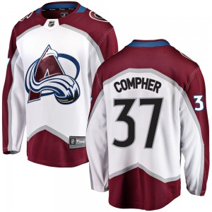 Fanatics Branded J.t. Compher Colorado Avalanche Youth Breakaway Away Jersey - White