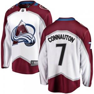 Fanatics Branded Kevin Connauton Colorado Avalanche Youth Breakaway Away Jersey - White
