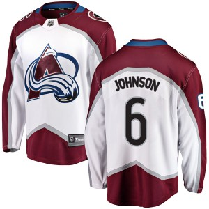 Fanatics Branded Erik Johnson Colorado Avalanche Youth Breakaway Away Jersey - White