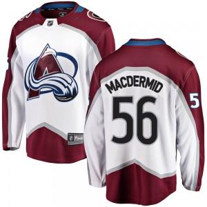 Fanatics Branded Kurtis MacDermid Colorado Avalanche Youth Breakaway Away Jersey - White