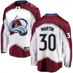 Fanatics Branded Spencer Martin Colorado Avalanche Youth Breakaway Away Jersey - White