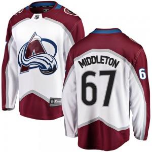 Fanatics Branded Keaton Middleton Colorado Avalanche Youth Breakaway Away Jersey - White