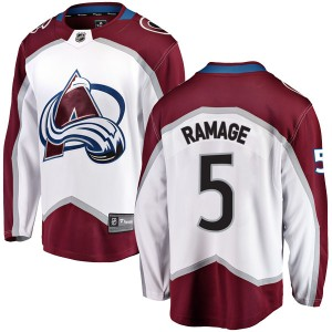 Fanatics Branded Rob Ramage Colorado Avalanche Youth Breakaway Away Jersey - White