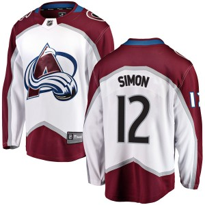 Fanatics Branded Chris Simon Colorado Avalanche Youth Breakaway Away Jersey - White