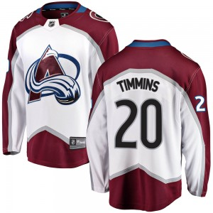 Fanatics Branded Conor Timmins Colorado Avalanche Youth Breakaway Away Jersey - White