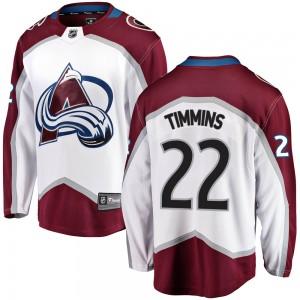 Fanatics Branded Conor Timmins Colorado Avalanche Youth Breakaway Away Jersey - White