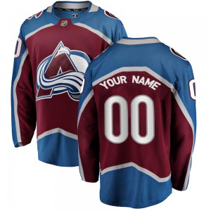 Fanatics Branded Youth Custom Colorado Avalanche Youth Breakaway Maroon Home Jersey