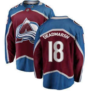 Fanatics Branded Youth Adam Deadmarsh Colorado Avalanche Youth Breakaway Maroon Home Jersey