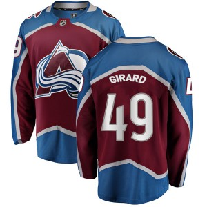 Fanatics Branded Youth Samuel Girard Colorado Avalanche Youth Breakaway Maroon Home Jersey