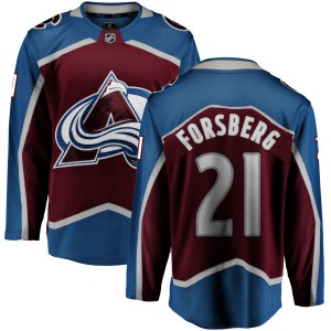 Fanatics Branded Men's Peter Forsberg Colorado Avalanche Men's Maroon Home Breakaway Jersey