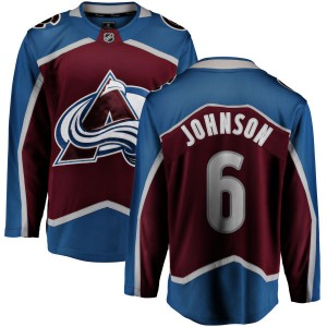 Fanatics Branded Youth Erik Johnson Colorado Avalanche Maroon Home Breakaway Jersey