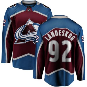 Fanatics Branded Youth Gabriel Landeskog Colorado Avalanche Maroon Home Breakaway Jersey