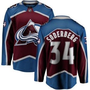 Fanatics Branded Men's Carl Soderberg Colorado Avalanche Maroon Home Breakaway Jersey