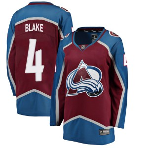 Fanatics Branded Women's Rob Blake Colorado Avalanche Women's Breakaway Maroon Home Jersey
