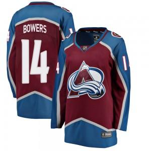 Fanatics Branded Women's Shane Bowers Colorado Avalanche Women's ized Breakaway Maroon Home Jersey