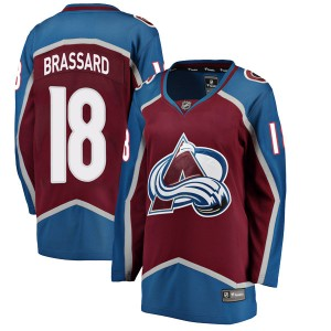 Fanatics Branded Women's Derick Brassard Colorado Avalanche Women's Breakaway Maroon Home Jersey