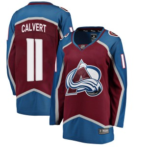 Fanatics Branded Women's Matt Calvert Colorado Avalanche Women's Breakaway Maroon Home Jersey