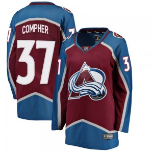 Fanatics Branded Women's J.t. Compher Colorado Avalanche Women's Breakaway Maroon Home Jersey