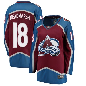 Fanatics Branded Women's Adam Deadmarsh Colorado Avalanche Women's Breakaway Maroon Home Jersey