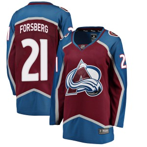 Fanatics Branded Women's Peter Forsberg Colorado Avalanche Women's Breakaway Maroon Home Jersey
