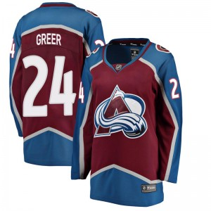 Fanatics Branded Women's A.J. Greer Colorado Avalanche Women's Breakaway Maroon Home Jersey
