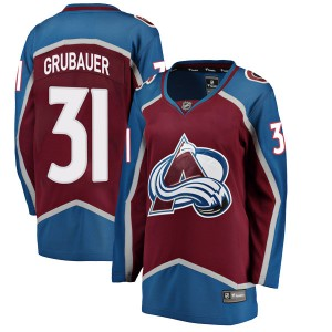 Fanatics Branded Women's Philipp Grubauer Colorado Avalanche Women's Breakaway Maroon Home Jersey