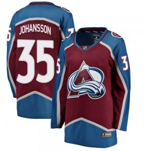 Fanatics Branded Women's Jonas Johansson Colorado Avalanche Women's Breakaway Maroon Home Jersey