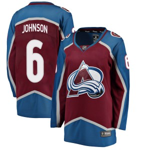 Fanatics Branded Women's Erik Johnson Colorado Avalanche Women's Breakaway Maroon Home Jersey