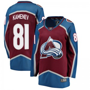 Fanatics Branded Women's Vladislav Kamenev Colorado Avalanche Women's Breakaway Maroon Home Jersey