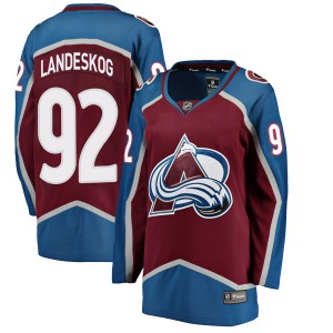 Fanatics Branded Women's Gabriel Landeskog Colorado Avalanche Women's Breakaway Maroon Home Jersey